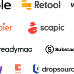 Essor des plateformes de no code : créer un site web ou une application sans savoir coder. bubble, glide, shopify, wix, format, wordpress, zapier, airtable, zendesk, intercom, crisp, naker, hunter, dropcontact, webflow, strikingly